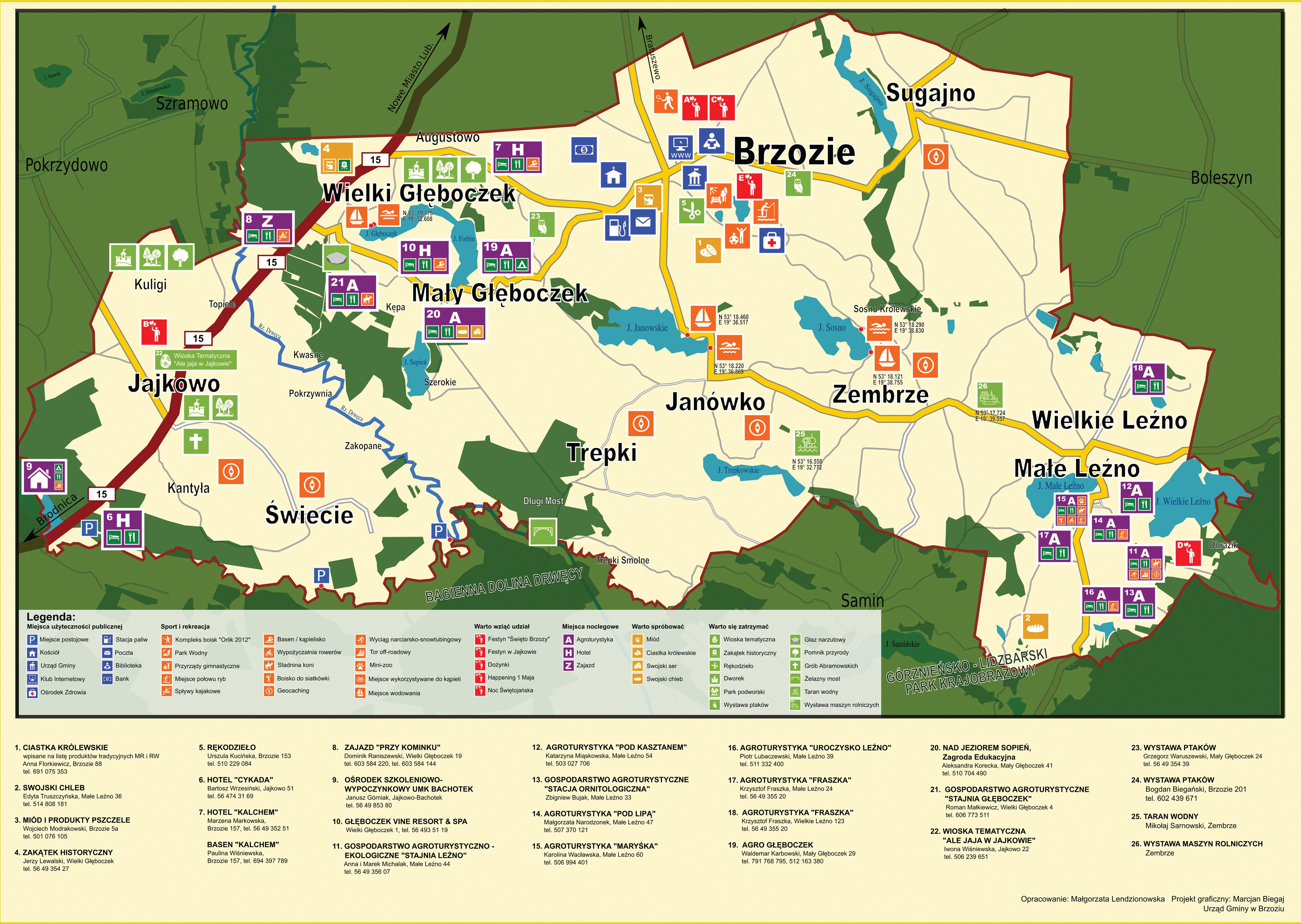 Mapka turystyczna STR 1 A3 - Mapka turystyczna